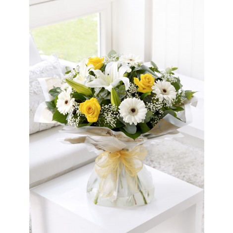 Sunshine Hand-tied With Get Well Balloon