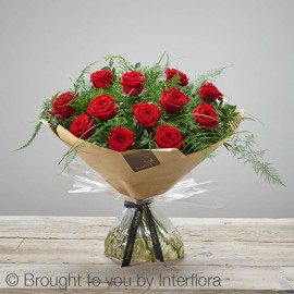 Heavenly red rose handtied
