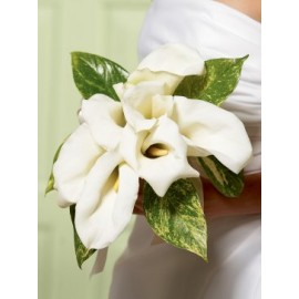 Chic White Calla Lily Bridal Bouquet