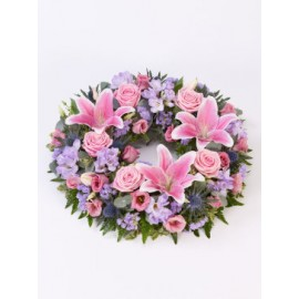 Rose and Lily Wreath