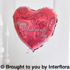 Happy Valentines Day Helium Heart Balloon